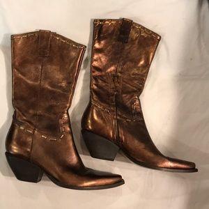 BCBGirls 6.5 bronze metallic boots